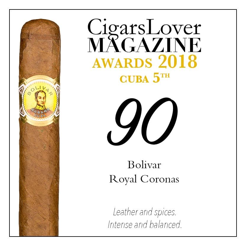 CigarsLover Magazine Awards 2018 Cuba Bolivar Royal Coronas