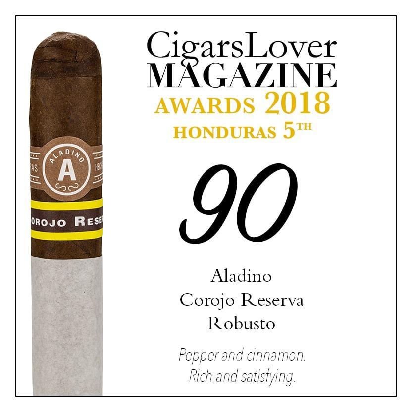CigarsLover Magazine Awards 2018 Honduras Aladino Corojo Reserva Robusto