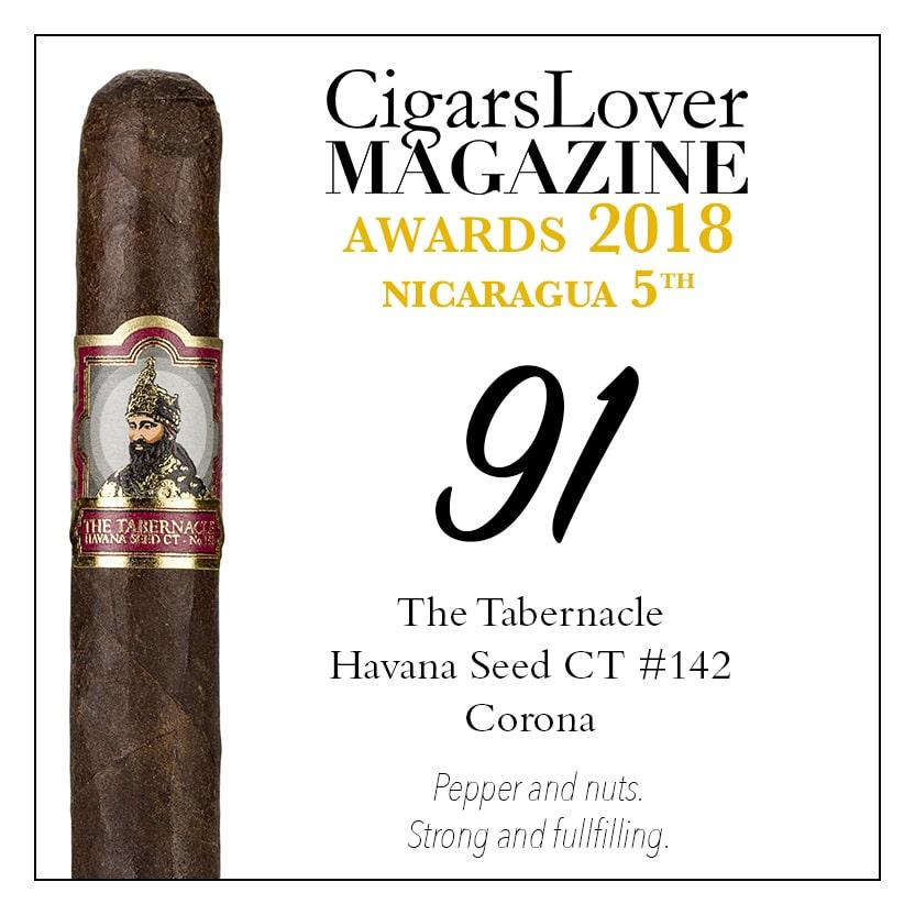 CigarsLover Magazine Awards 2018 Nicaragua The Tabernacle Havana Seed CT #142 Corona