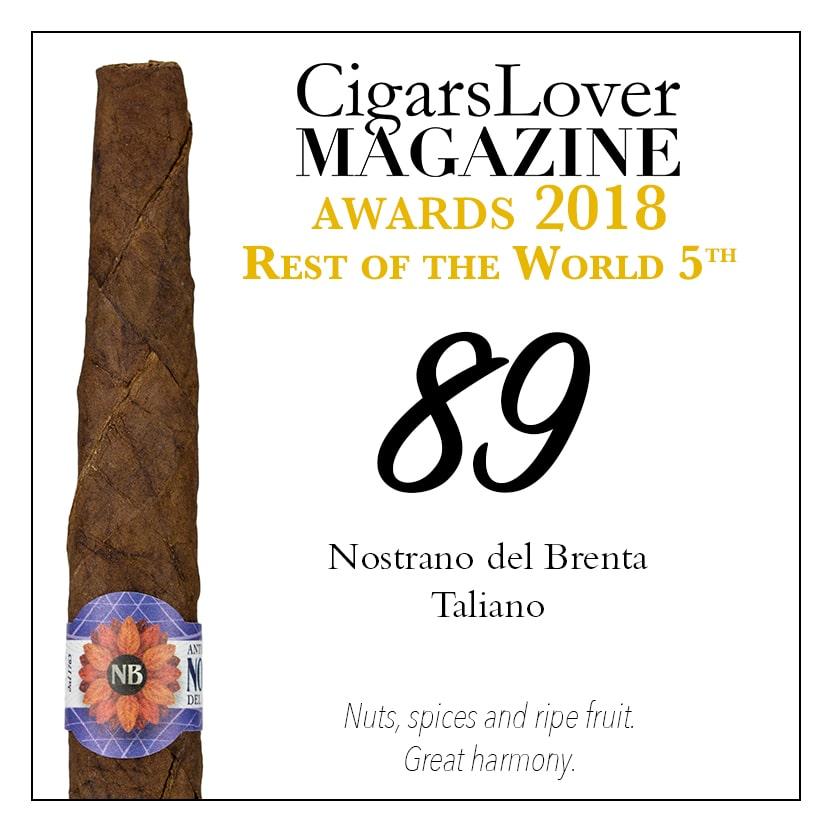 CigarsLover Magazine Awards 2018 Nostrano del Brenta Taliano