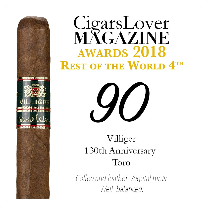 CigarsLover Magazine awards top4 rest of the world
