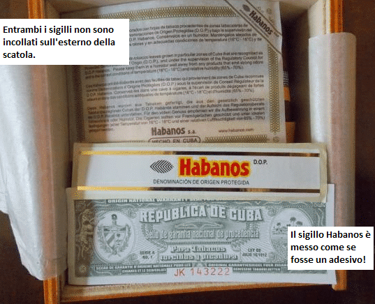 scatola contraffatta