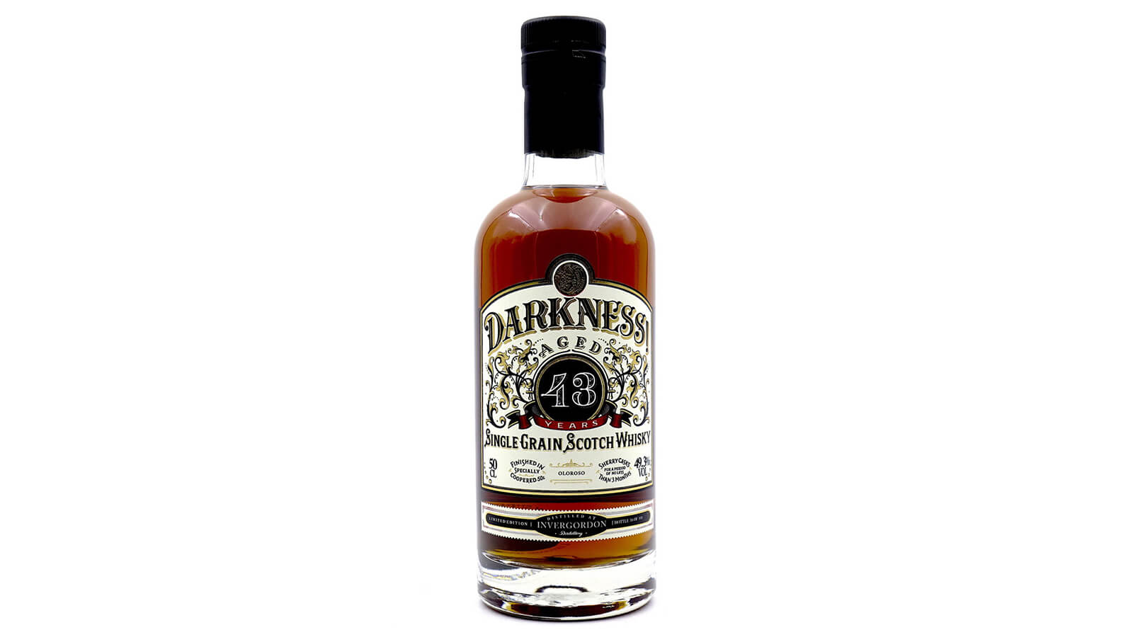 DARKNESS! INVERGORDON 43 YEAR OLD OLOROSO CASK FINISH