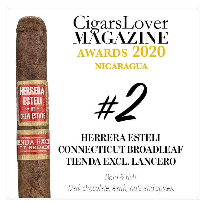 Herrera Esteli Connecticut Broadleaf Tienda Exclusiva Lancero